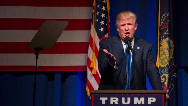 Trump akiwa Scranton