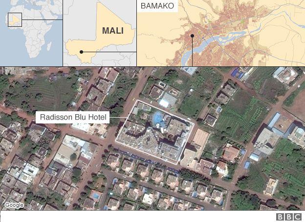 Map of Bamako