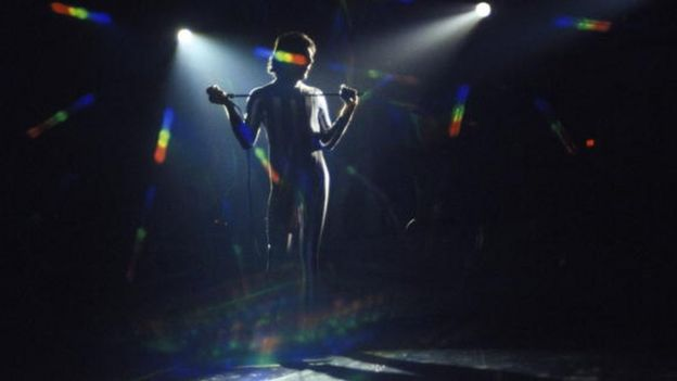 Freddie Mercury en el Madison Square Garden en 1977