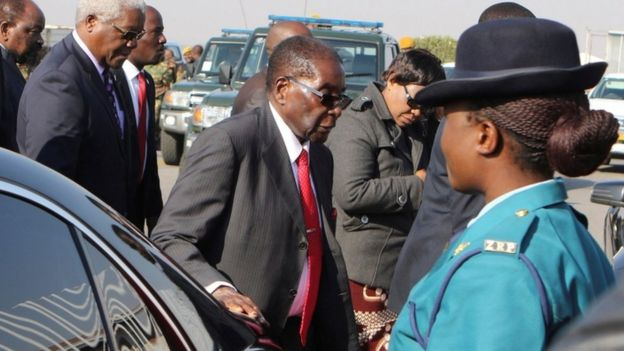 Robert Mugabe, 3 Sept, Harare