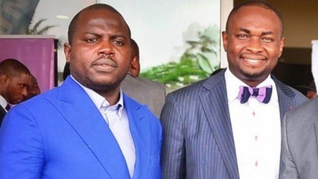 Laide Agboola (L) and Obinna Onunkwo (R)