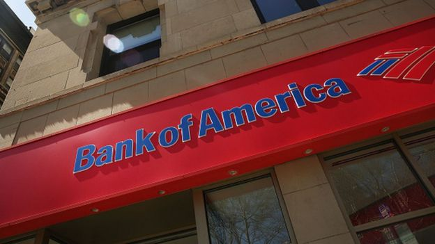 A Bank of America sign in the US (15 April 2016)