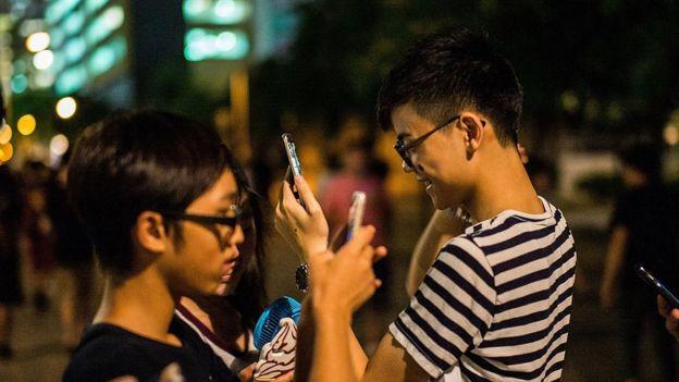 jugadores de Pokémon Go en Hong Kong