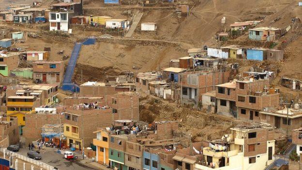 Barrio pobre en Lima
