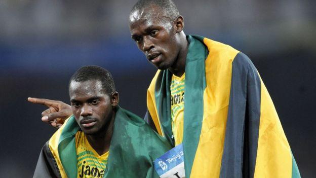 Nesta Carter y Usain Bolt
