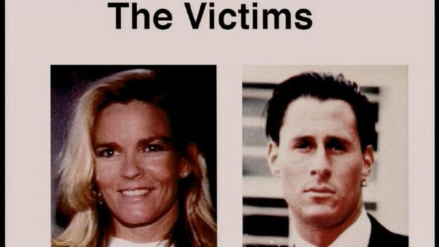 Nicole Brown Simpson (left) and Ron Goldman (right), the murder victims