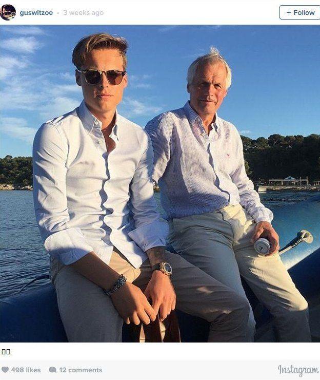 Gustav Magnar Witzoe y su padre