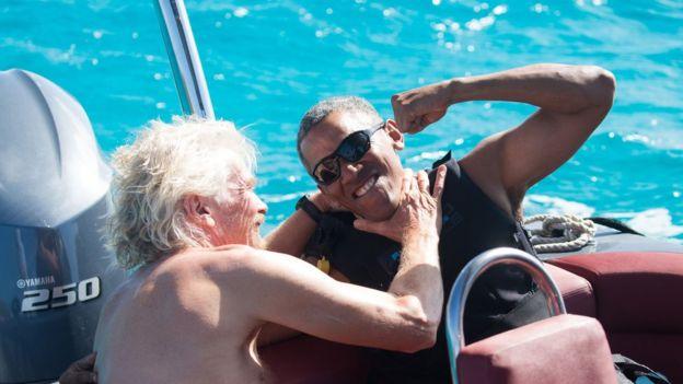 Барак Обама и сэр Ричард Брансон