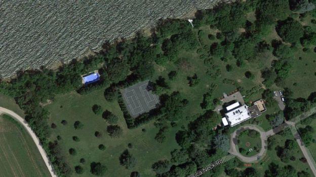 Vista aerea de la propiedad en MAryland