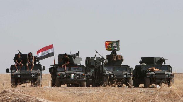 Musul'a ilerleyen Irak güçleri