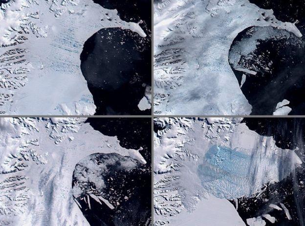 Разрушение ледника Ларсен В в 2002 году