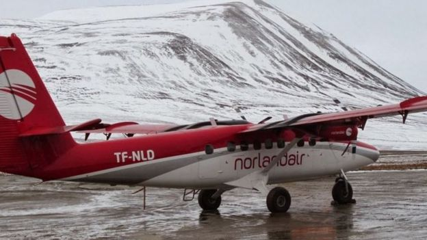 Avión de Norlanair, en Groenlandia