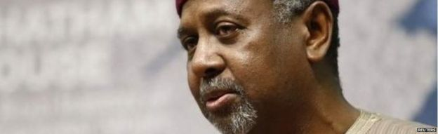 Former Nigeria's national security adviser, Sambo Dasuki