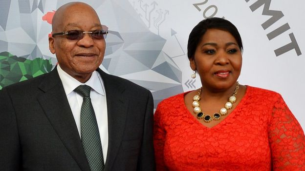 President Jacob Zuma and his wife Bongi Ngema