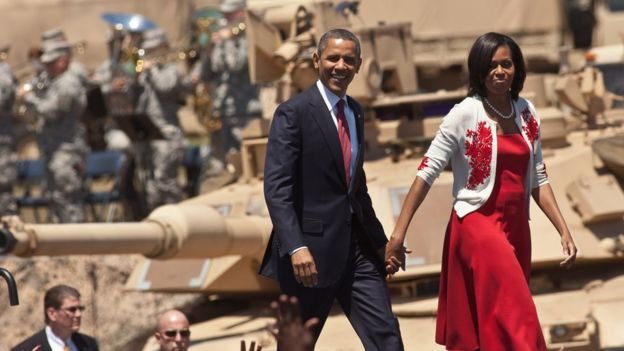 Barack Obama, presidente de EE.UU. junto a su esposa, Michelle Obama