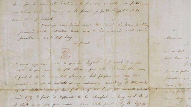 Carta de Charlotte Brontë al profesor Constantin Héger