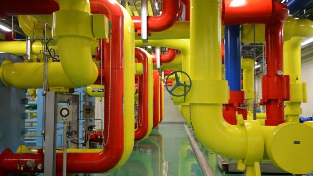 Google data centre pipes