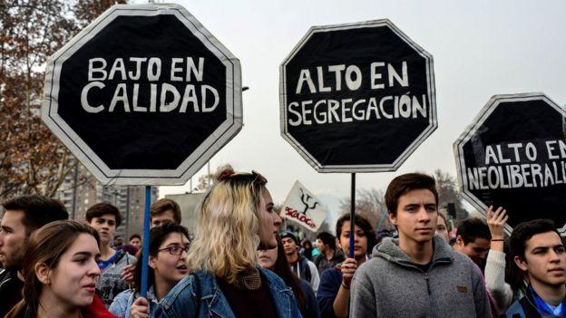 Estudiantes protestando