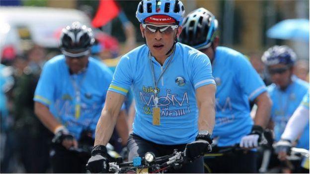 Vua Vajiralongkorn tham gia hai sự kiện đi xe đạp để tỏ lòng tôn kính cha mẹ mình vào năm ngoái