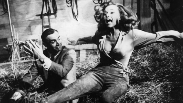 Sean Connery and Honor Blackman