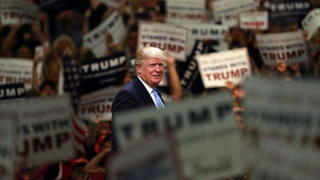 Donald Trump en Anaheim, California