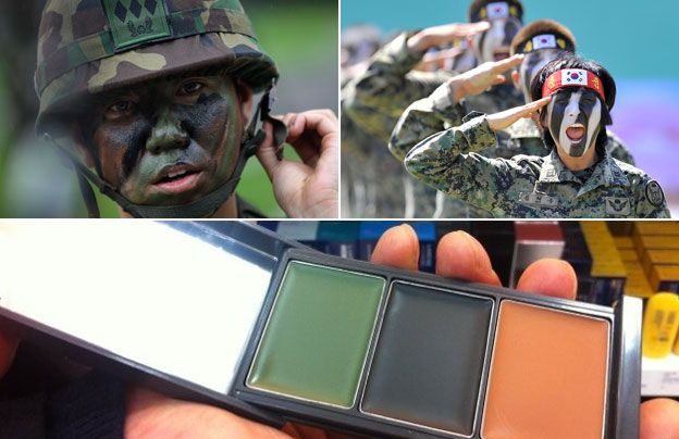 Camouflage Make-up And