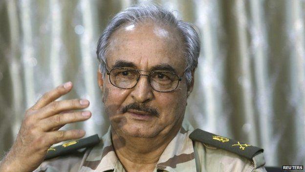 El coronel Jalifa Haftar