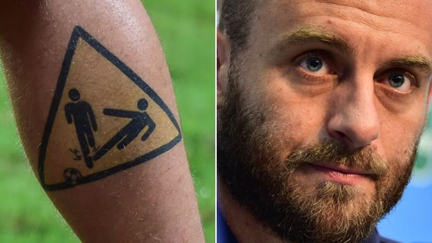 de Rossi Calf Tattoo images
