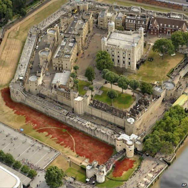 Tower of London Poppies Aerial Images Aerial View of Tower of London