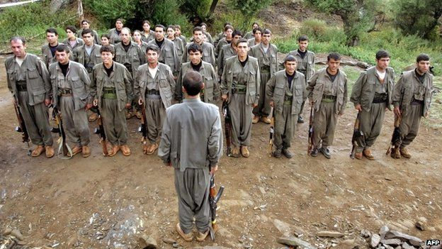 PKK fighters in parade in northern Iraq (11 August 2005)