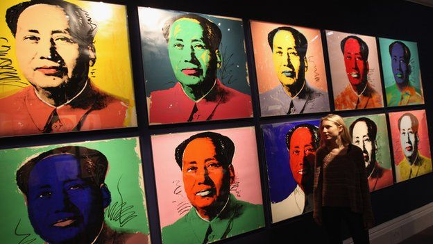 Artist impression of communist leader Mao Tse Tung