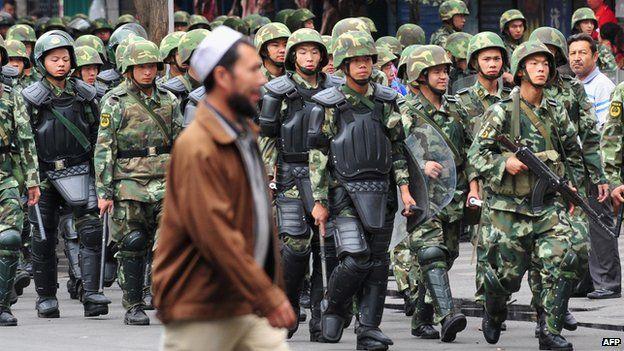 Image result for Uyghurs vs. Chinese police Uyghur or Tibetan Grievances.