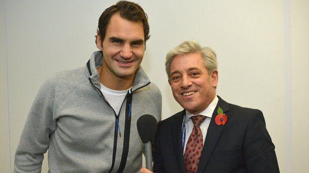 Roger Federer Mother Roger Federer And John Bercow