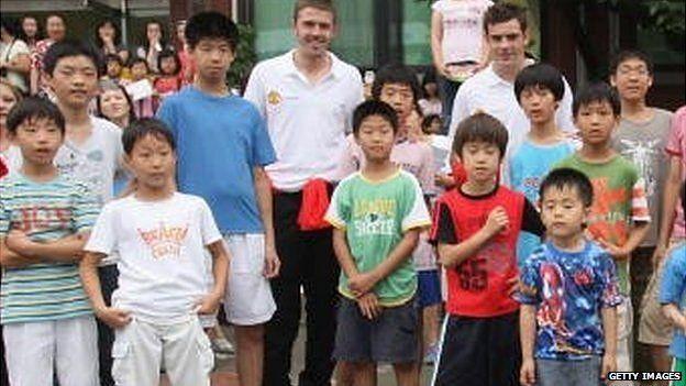 Young Suk Sco Bo Rin Orphanage on July 19 2007, in Seoul