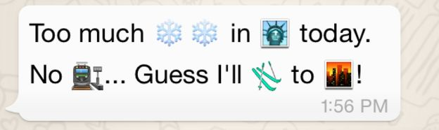 Emojis with snow