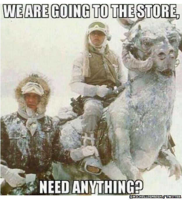 Star Wars snow meme