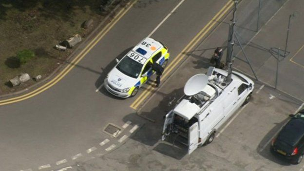 Police at Sir Cliff Richard's premises