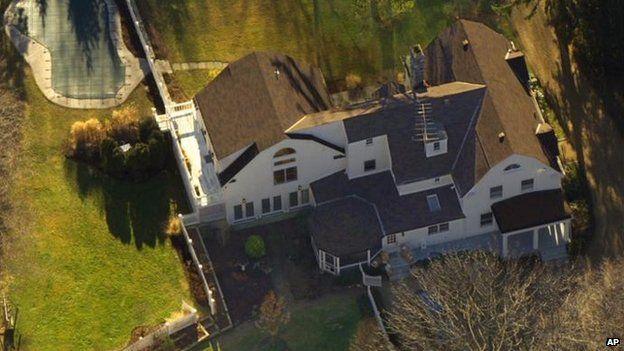 La casa de los Clinton en el estado de Nueba York