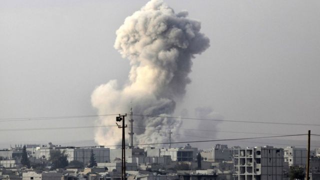 An explosion in Syria