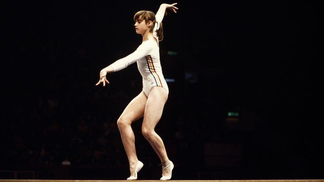 Nadia Comaneci at the 1976 Montreal Olympic games