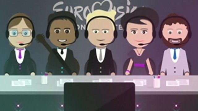 Animation of Eurovision judges