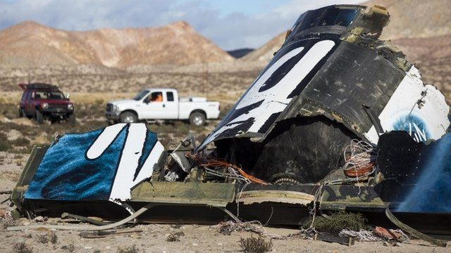 Remains of spacecraft after crash