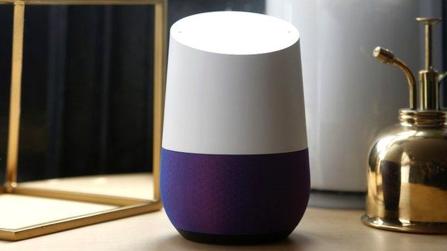 Google home hands on with voice activated speaker bbc news