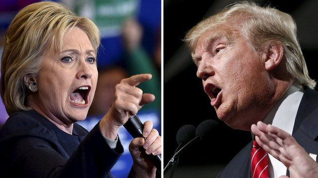 Image result for clinton vs trump