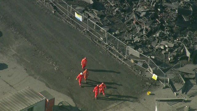 Rescuers at the Didcot Power Station collapse site