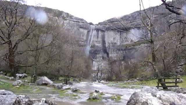 Waterfall at Malham Cove