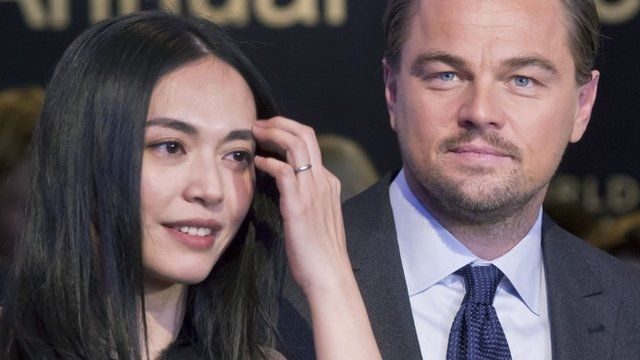 Chinese actress Yao Chen, left, and US Actor Leonardo DiCaprio