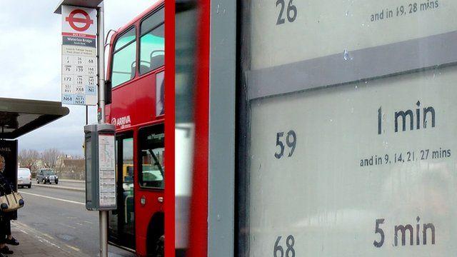 E-paper bus stop