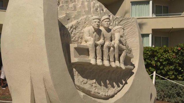 A sand sculpture