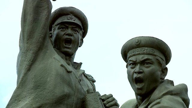 A North Korean war memorial